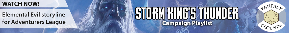 5E Storm Kings Thunder Playlist