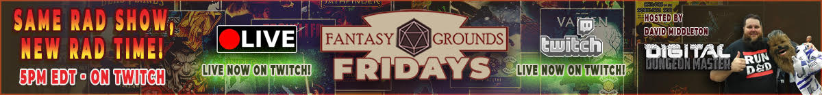 Fantasy Grounds Fridays LIVE