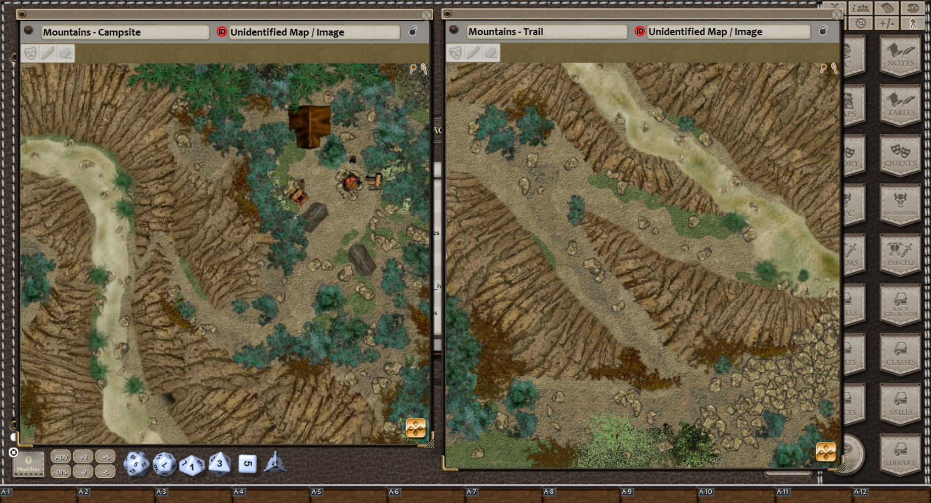 Map Adventures 1 Forests And Mountains V2 For Fantasy