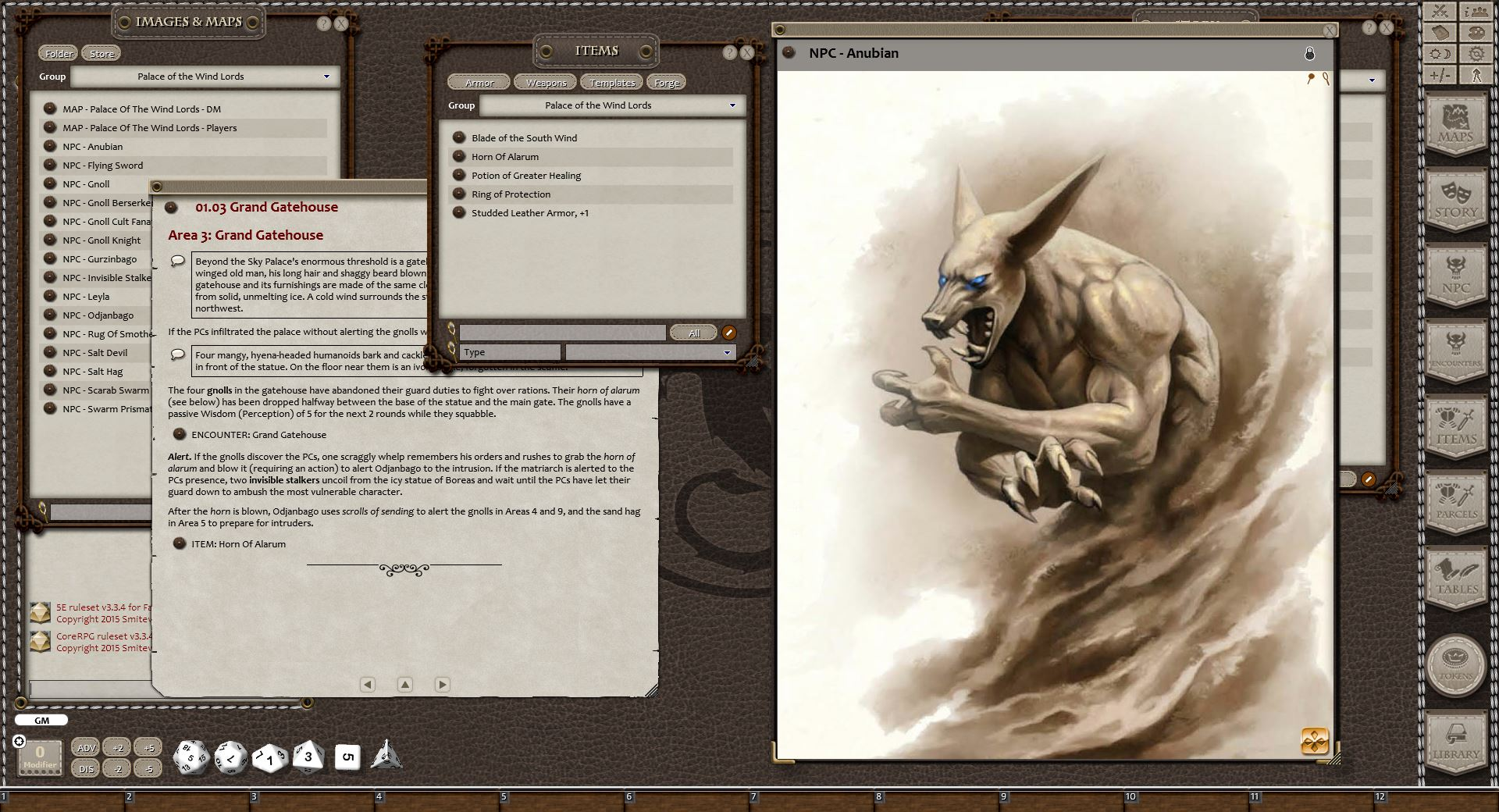 Eldritch Lairs for Fantasy Grounds