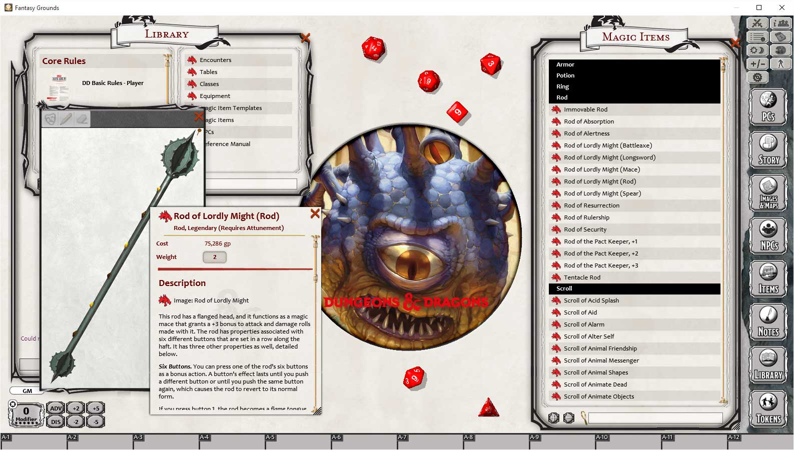 D&D Dungeon Master's Guide for Fantasy Grounds