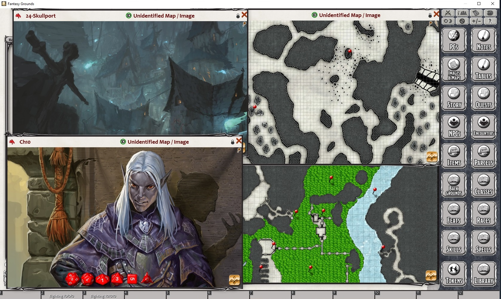 Dungeon of the Mad Mage color maps