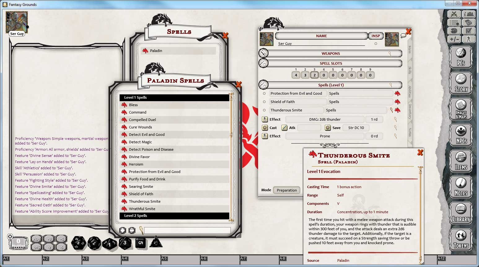 D&D Paladin Class Pack for Fantasy Grounds
