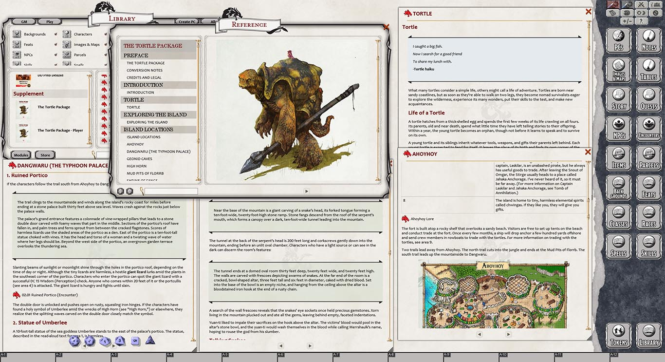 D&D The Tortle Package for Fantasy Grounds