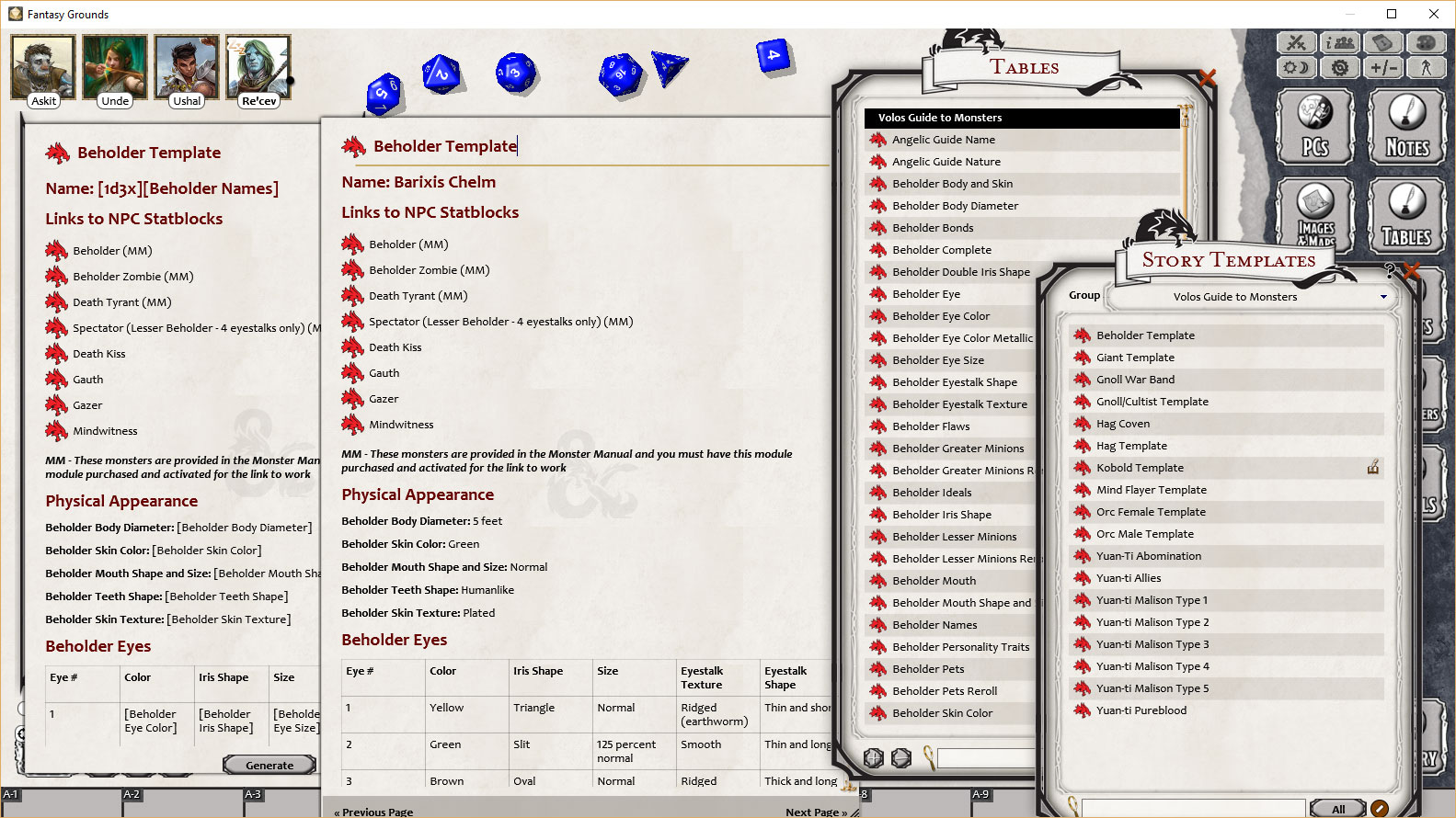 5e Monster Template