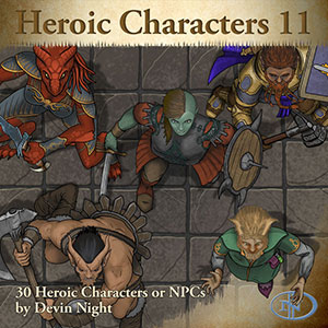 Heroic Characters 11 Token Pack For Fantasy Grounds