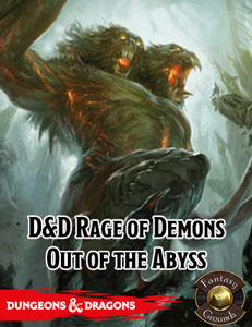 D&D Rage of Demons: Out of the Abyss for Fantasy Grounds