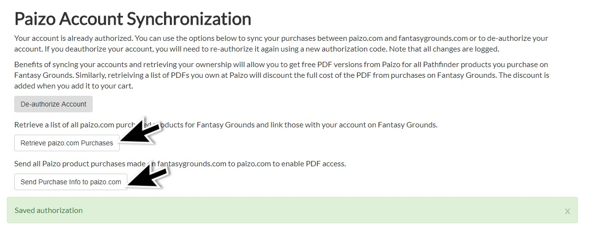 Sync Your Fantasy Grounds Account To Paizo - Fantasy Grounds Wiki